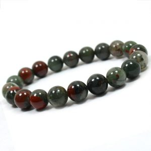 Natural Energized Original Blood Stone Beads Bracelet