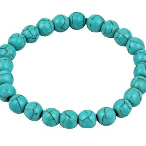 Firoza/Turquoise Crystal Stone Healing Beaded Bracelet for Men and Women