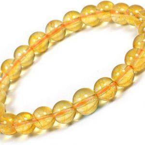 Citrine Crystals Bracelet for Men and Women