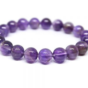 Amethyst 8mm Bead Stone Round Shape Bracelet